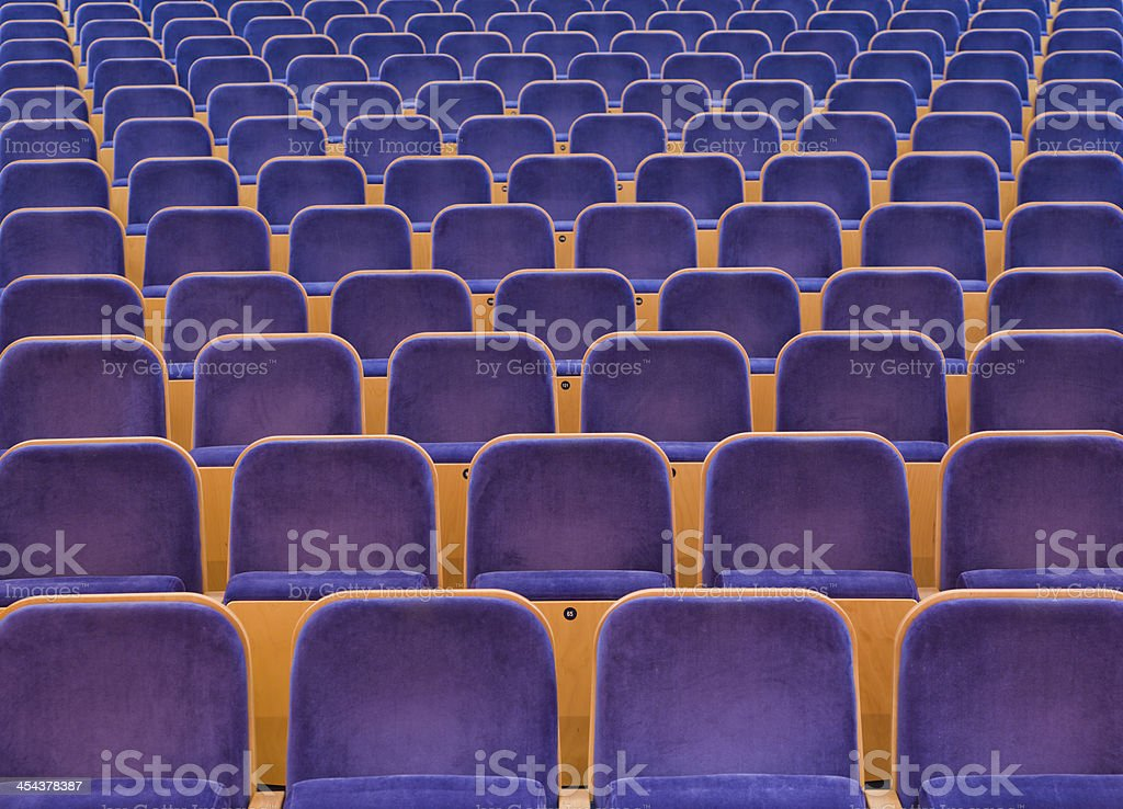 Spectators seats stock photo