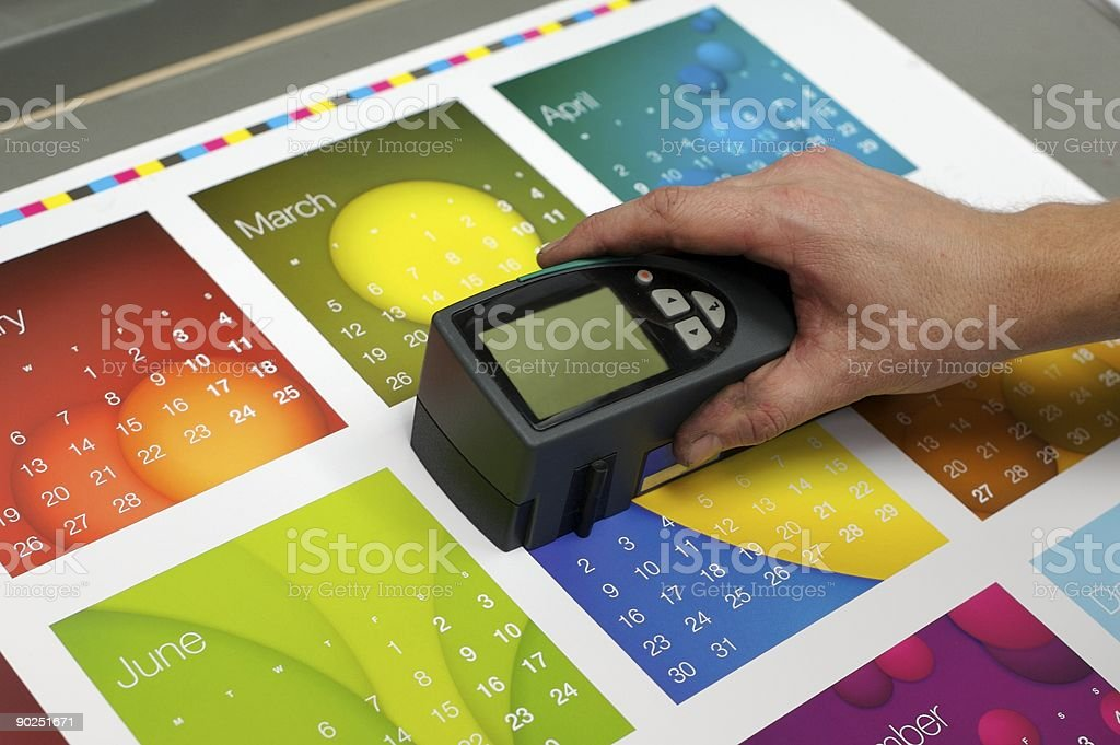 Spectrometer in the hand... stock photo