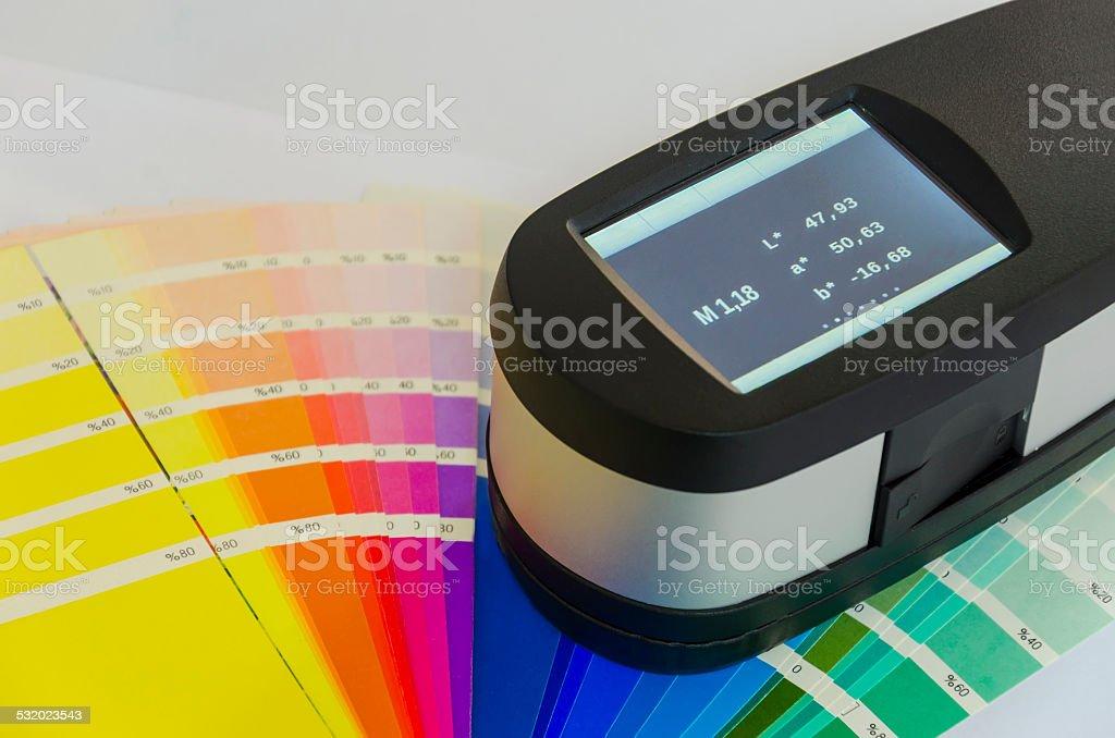 Spectrophotometer, Exact Print Measuring Tool stock photo