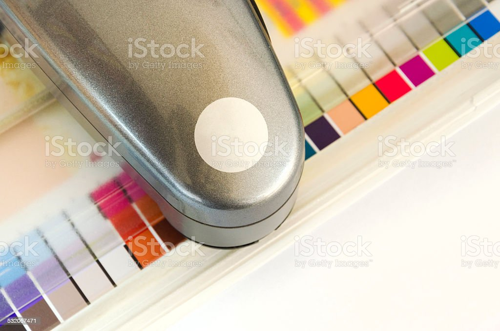 Spectrophotometer, Print Measuring Tool stock photo