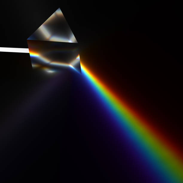 プリズムを用いた分光法 - プリズム ストックフォトと画像