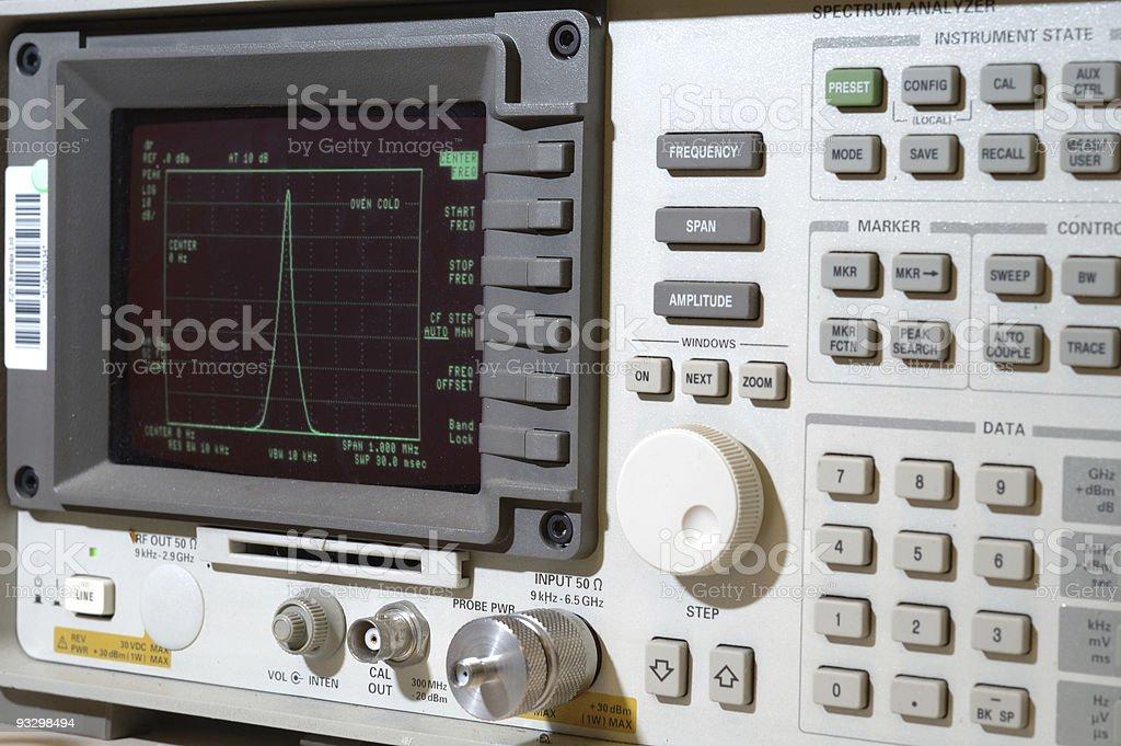 Spectrum Analyzer stock photo