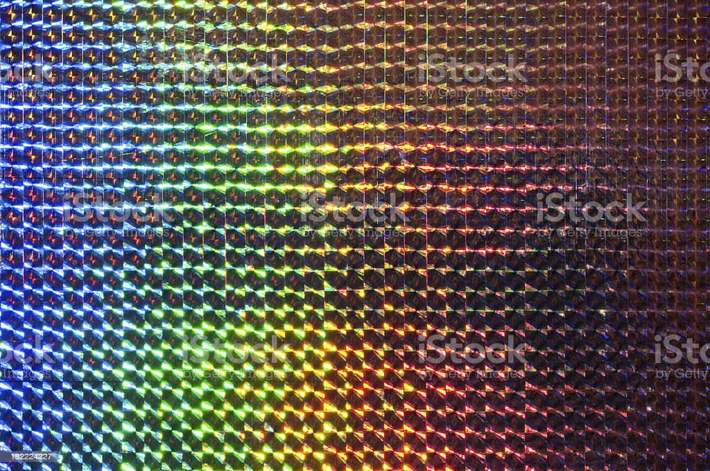 spectrum colors reflection on metal sufrace royalty-free stock photo