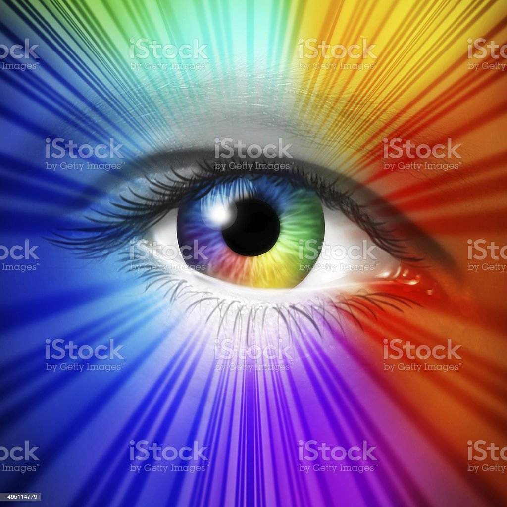 Spectrum Eye stock photo