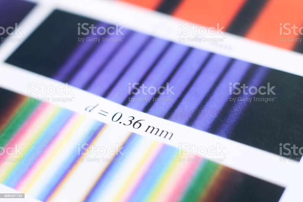 Spectrum of Physics stock photo