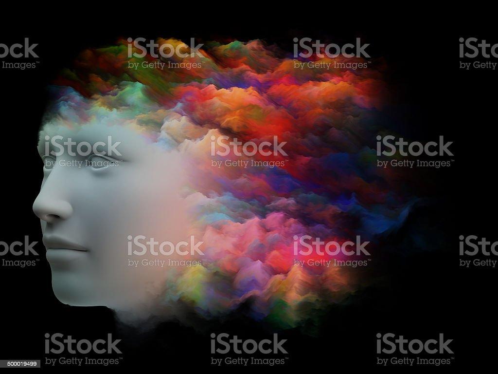 Spectrum of the Mind stock photo