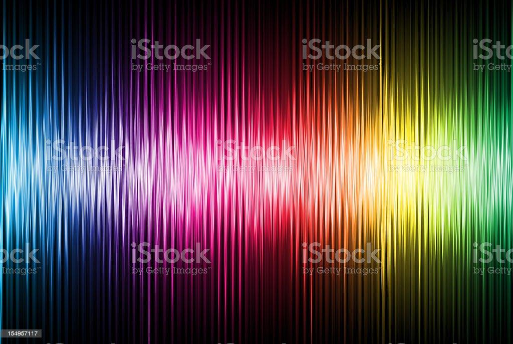 Spectrum wave. royalty-free stock photo