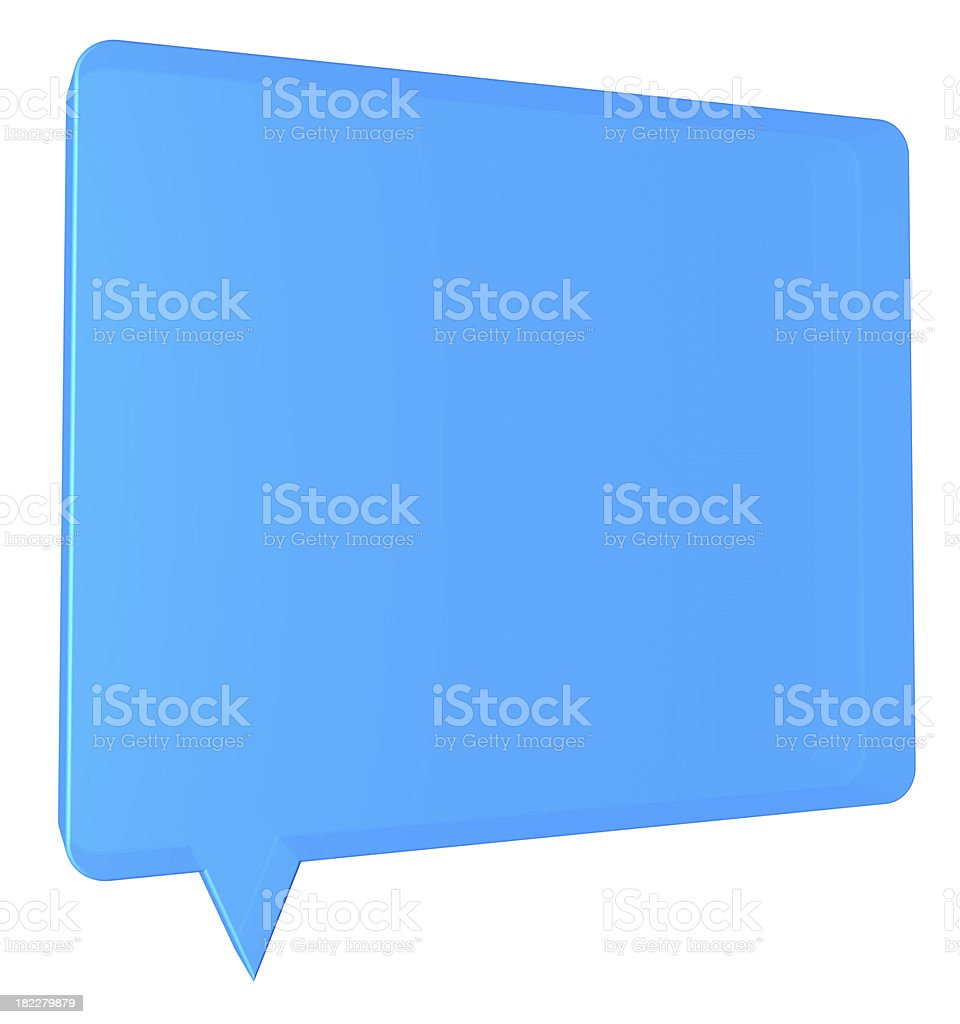 speech balloon stock photo