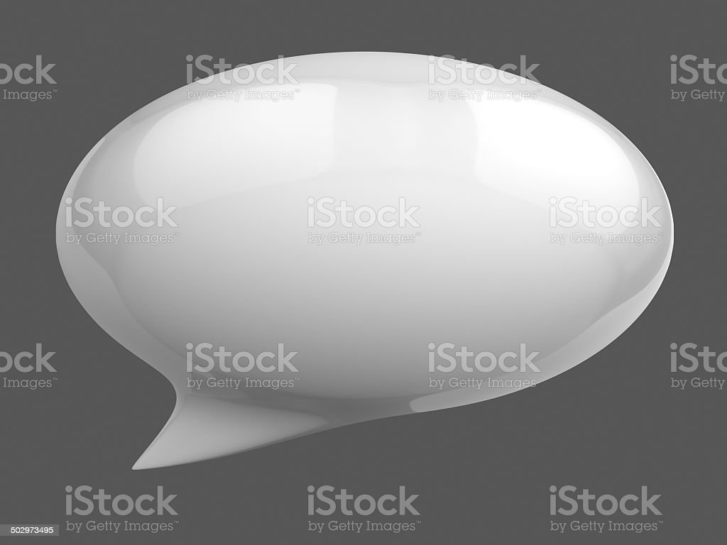 speech bubble 3d stock photo