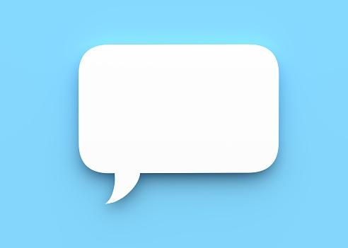 istock Speech bubble 3d rendering 1196734286