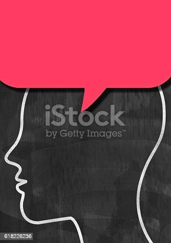 istock Speech bubble / Blackboard cocnept (Click for more) 618226236