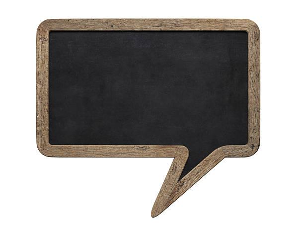 Sprechblase Schreibtafel – Foto