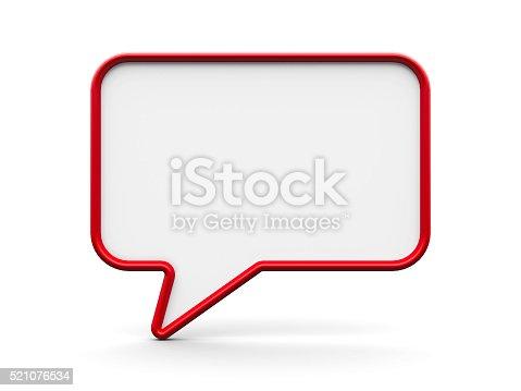 1125351850istockphoto Speech bubble blank #2 521076534