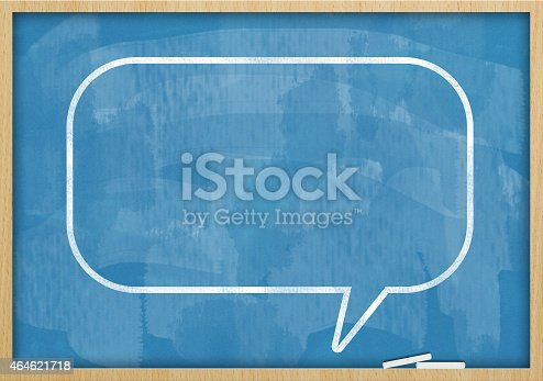 185325970 istock photo Speech Bubble / Blue Blackboard (Click for more) 464621718