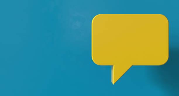 Speech Bubble Chat stock photo