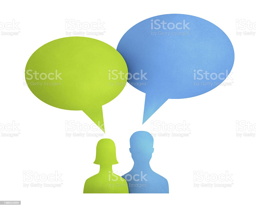 Speech Bubble Communication Concept royalty-free stock photo