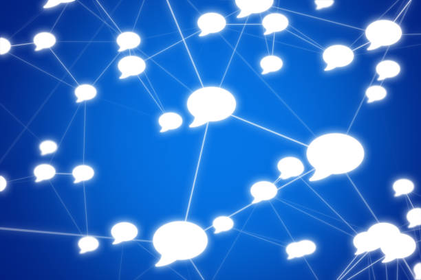Speech Bubble Kommunikationsleitungen – Foto