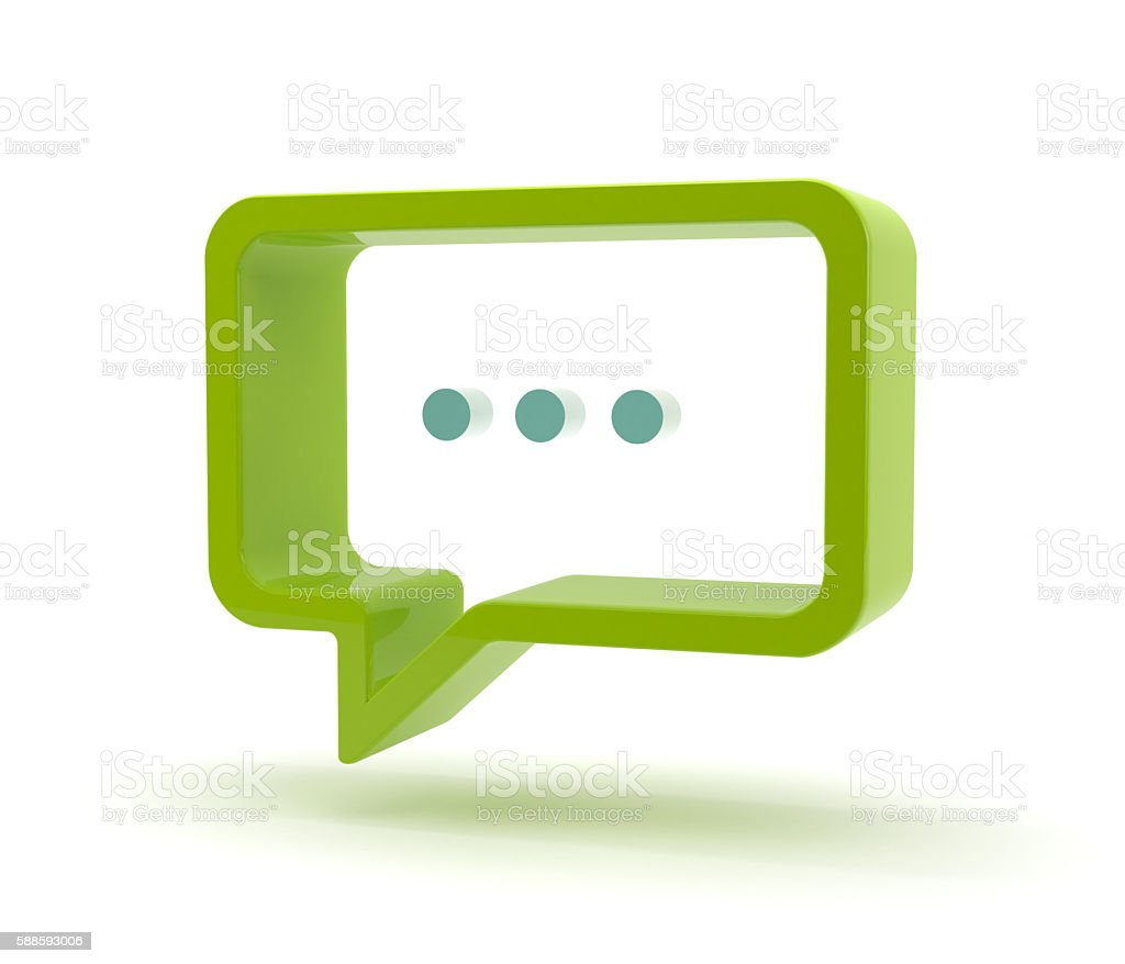 3D speech bubble - dots stock photo