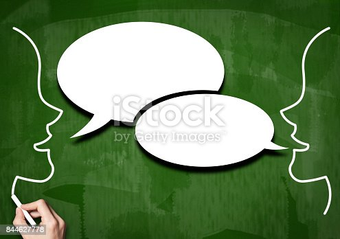 istock Speech bubble / Green board cocnept (Click for more) 844627778