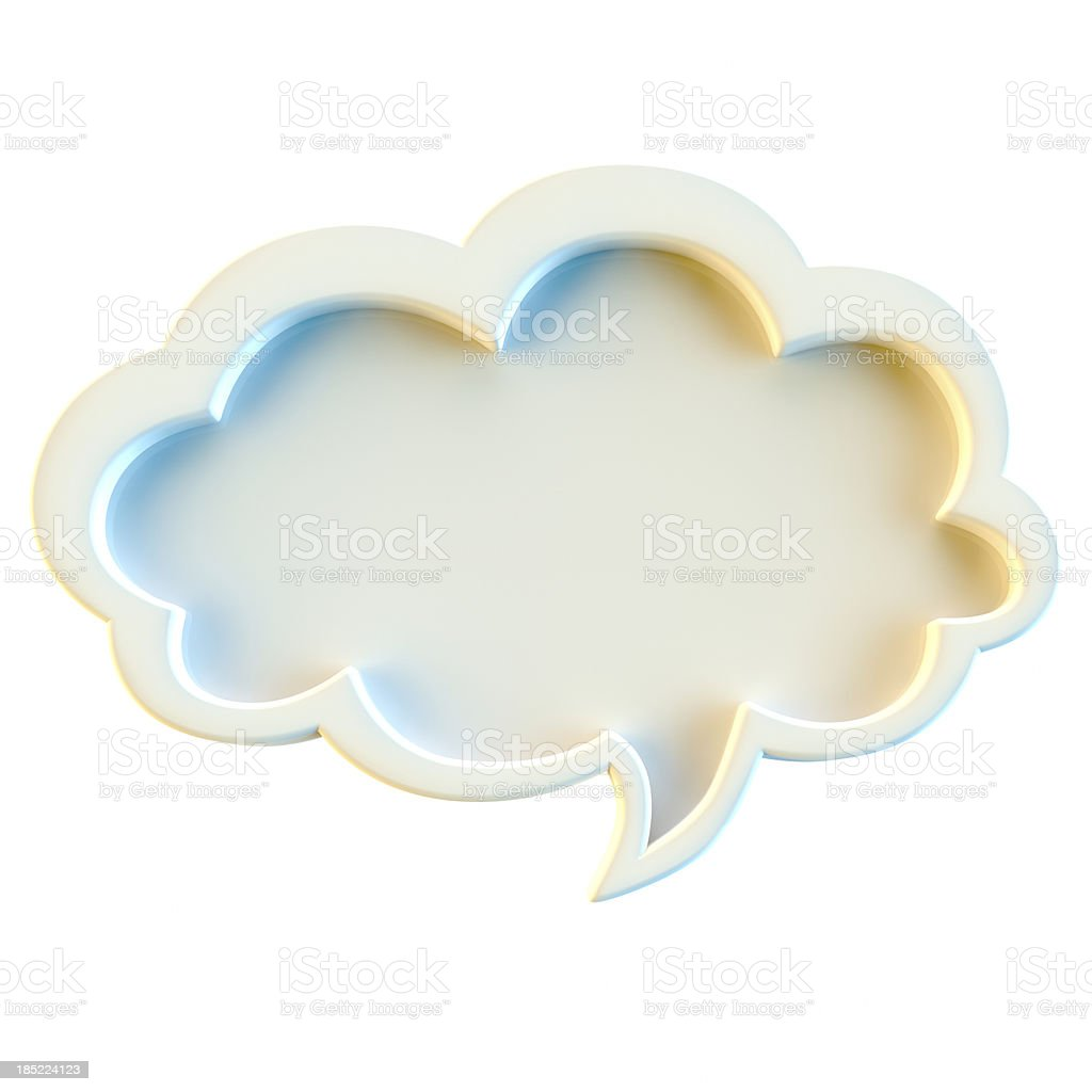 Speech bubble isolated on white background stock photo