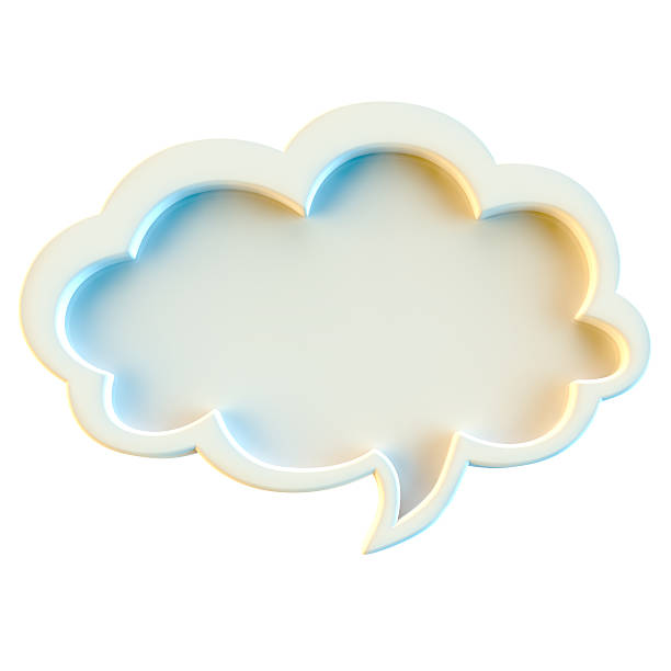 speech bubble isolated on white background - thought bubble stock photos and pictures
