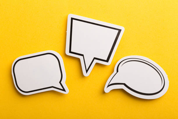 Speech Bubble Isolated On Yellow Background