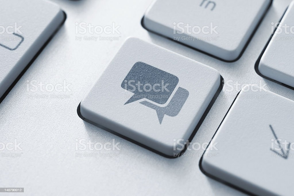 Speech Bubble Key royalty-free stock photo
