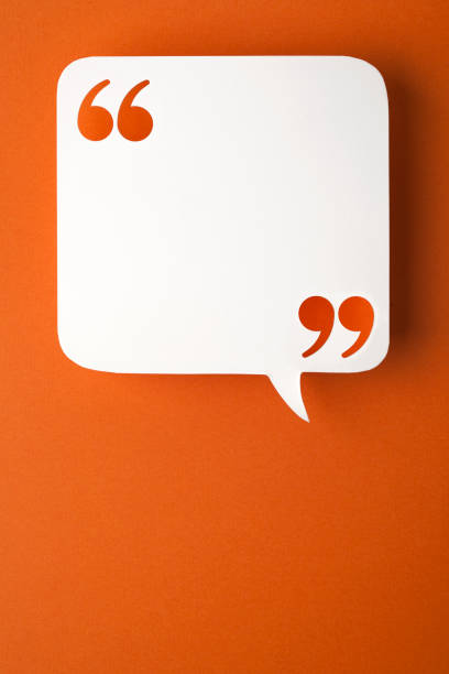 speech bubble on orange background speech bubble on orange background. speech bubble stock pictures, royalty-free photos & images