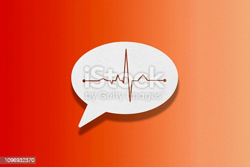 istock Speech bubble on red background, Frequency 1096932370
