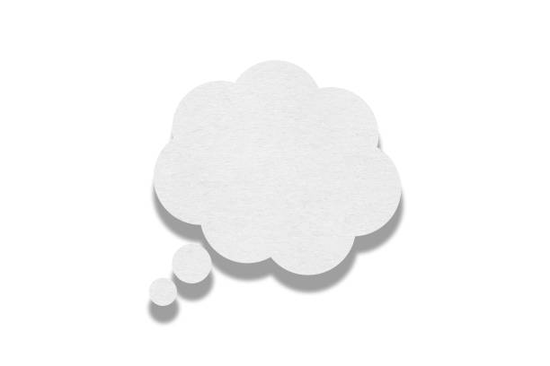 Speech bubble on white background Speech bubble on white background thought bubble stock pictures, royalty-free photos & images