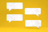 Speech Bubble on Yellow Background