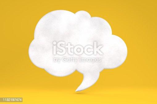 istock Speech Bubble on Yellow Background 1132197474