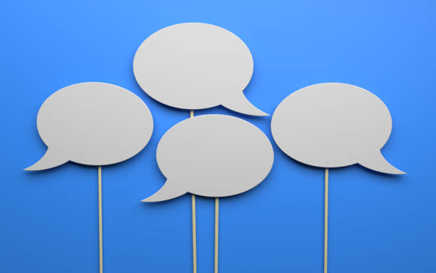 speech bubble - messaggistica online foto e immagini stock