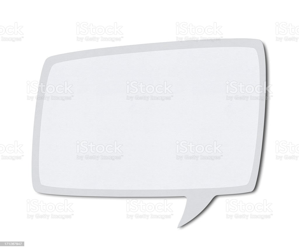Speech Bubble (Clipping Path) stock photo