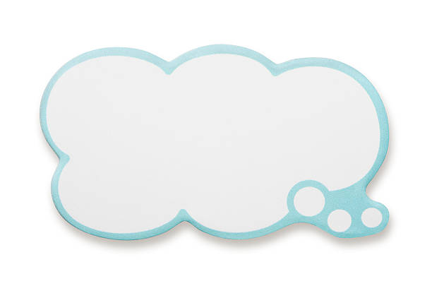 Speech Bubble Speech Bubble with Clipping Paths. thought bubble stock pictures, royalty-free photos & images