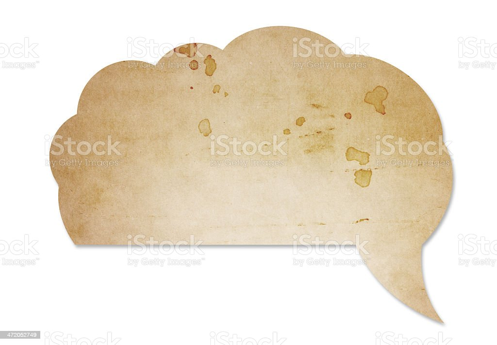 Speech bubble (clipping path included) royalty-free stock photo