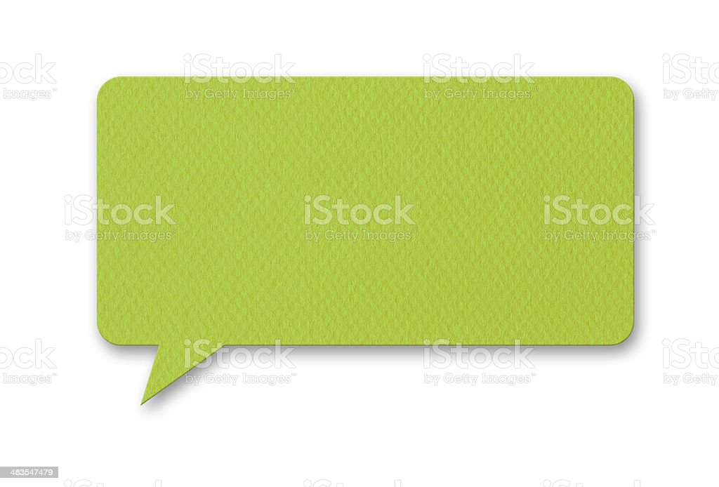 Speech Bubble (Isolated) royalty-free stock photo