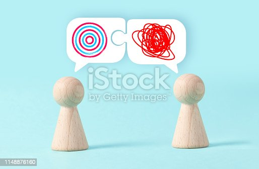 istock Speech Bubble Puzzle and Discussion 1148876160