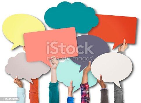 638013502istockphoto Speech Bubble Sign Symbol Communication Concept 619053884