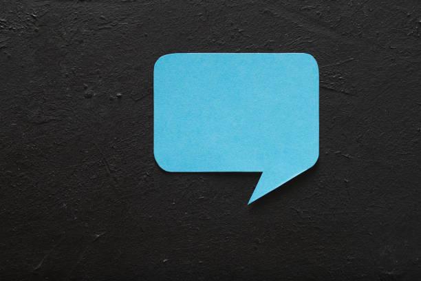 idea de comunicación discurso burbuja social media - foto de stock
