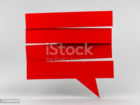 istock Speech bubble strip blank #2 875655436