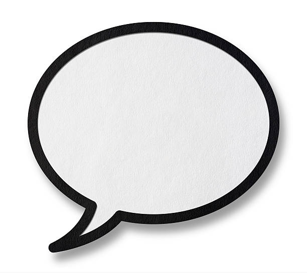 speech bubble with clipping path - 卡通 個照片及圖片檔