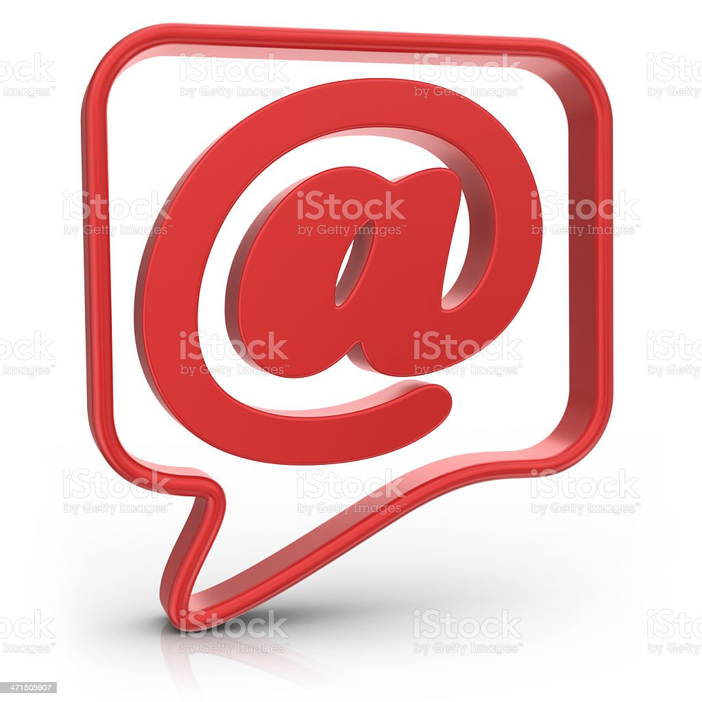 Speech Bubble with E-Mail royalty-free stock photo