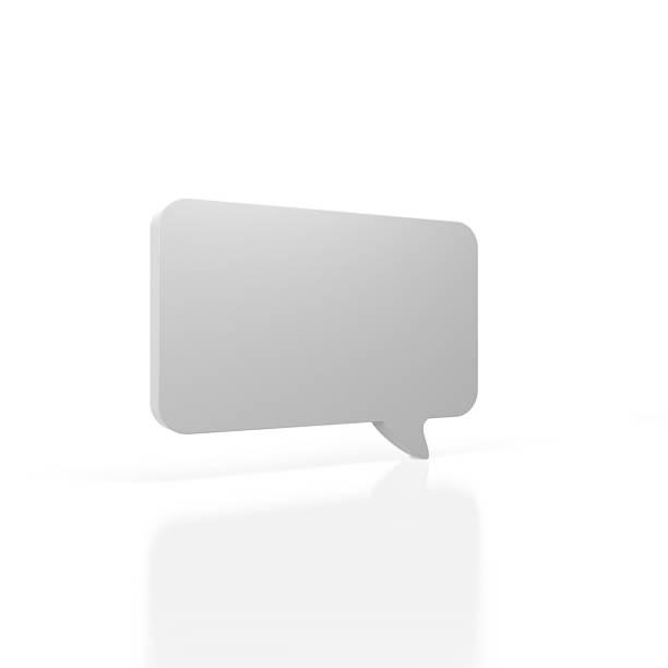 Bulle de dialogue avec des guillemets sur fond blanc - Photo