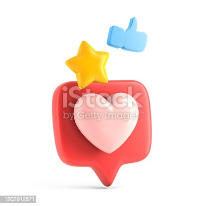 istock Speech bubble with social network like icons 1202912871