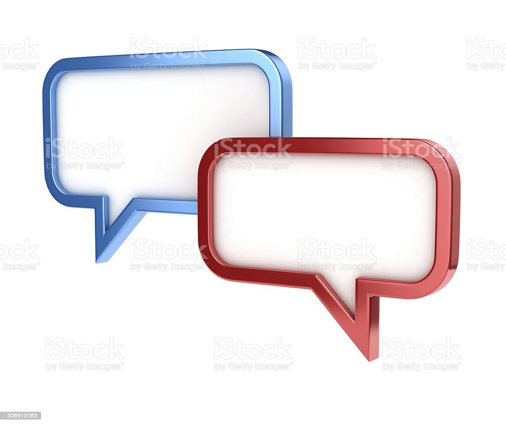 speech bubbles 3d stock photo
