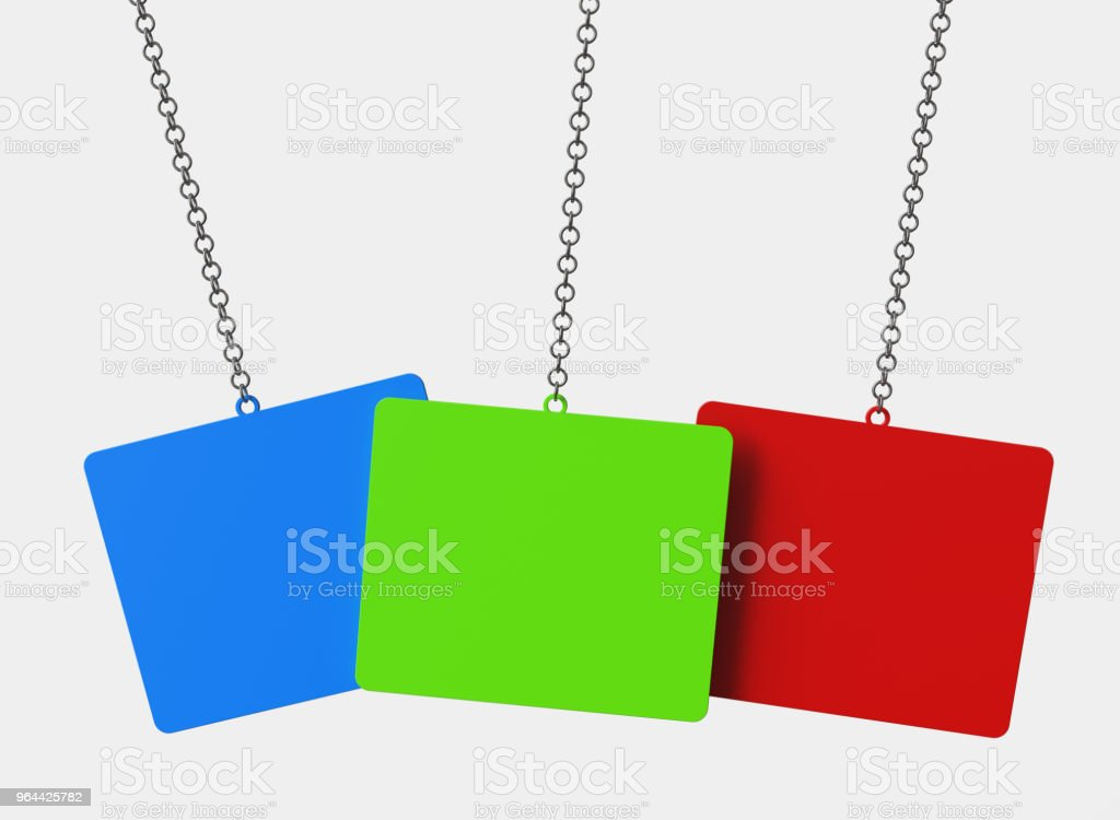 Speech bubbles hanging on chain - Royalty-free Advertisement Stock Photo
