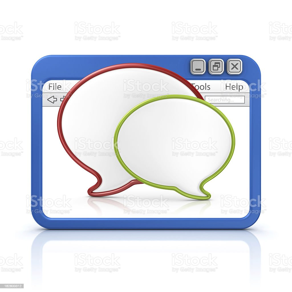 speech bubbles in browser royalty-free stock photo