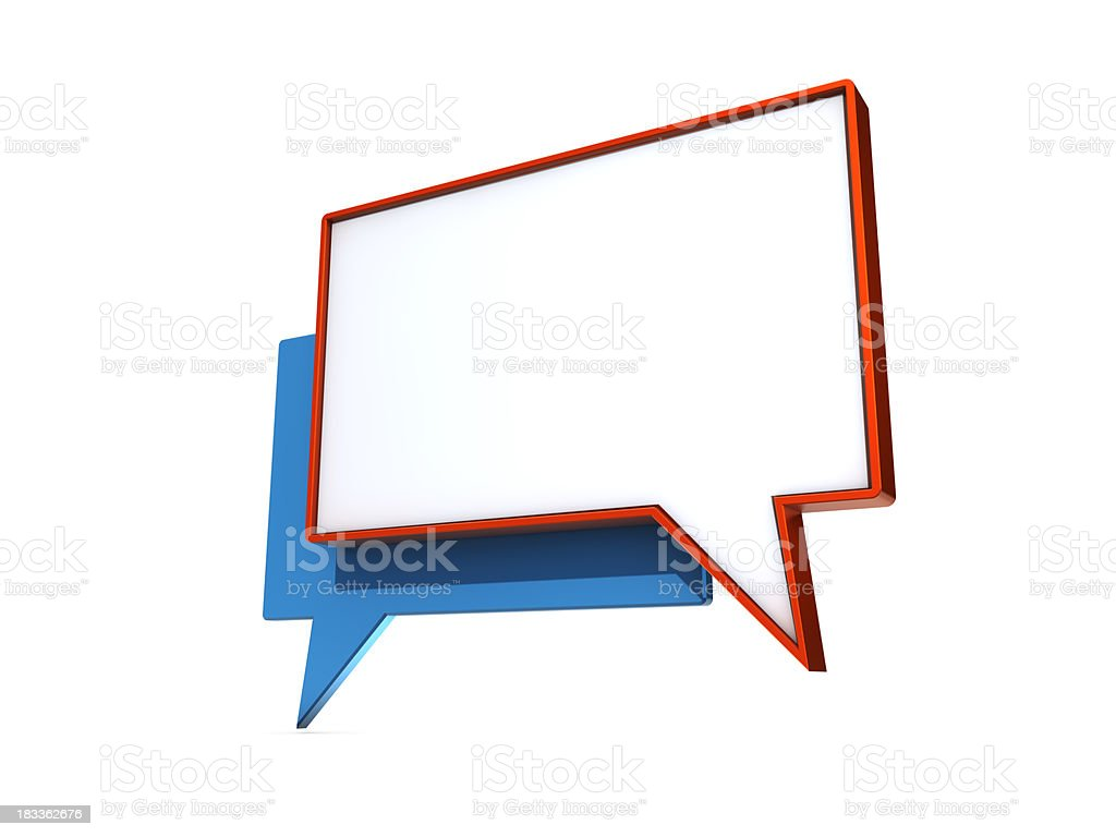 Speech bubbles in red and blue royalty-free stock photo