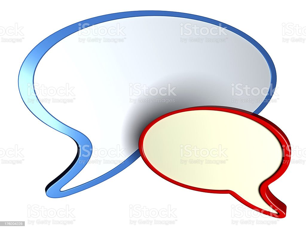 Speech bubbles isolated on white background royalty-free stock photo